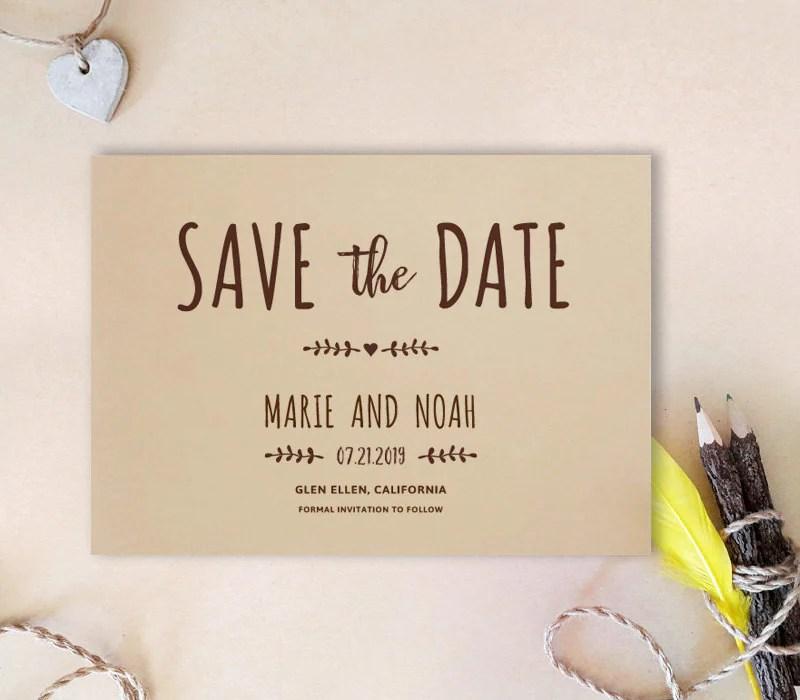 Simple Save Date Postcards