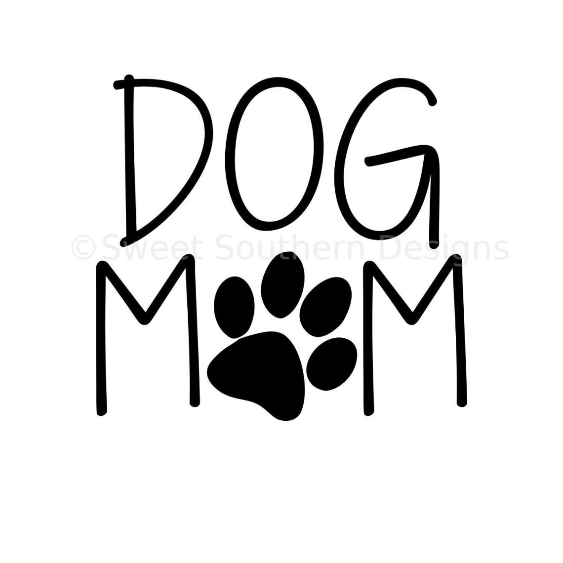 Download Dog mom SVG instant download design for cricut or ...