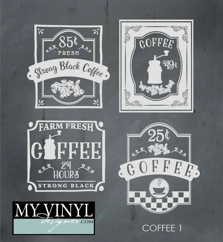 Download Coffee SVG Files Kitchen Wall Art Cuttable SVG Cafe SVG