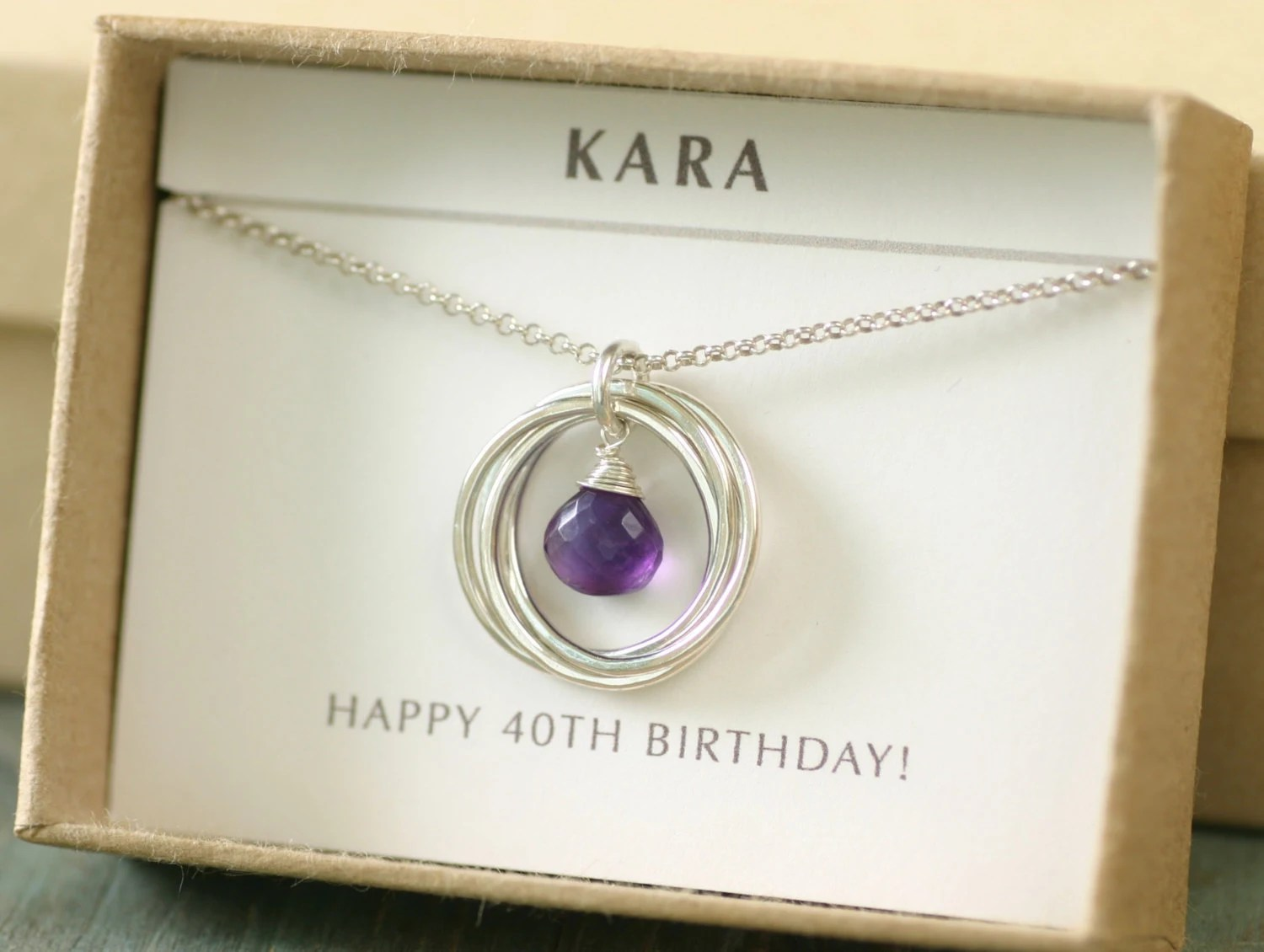 40th Birthday Gift For Wife Amethyst Necklace February