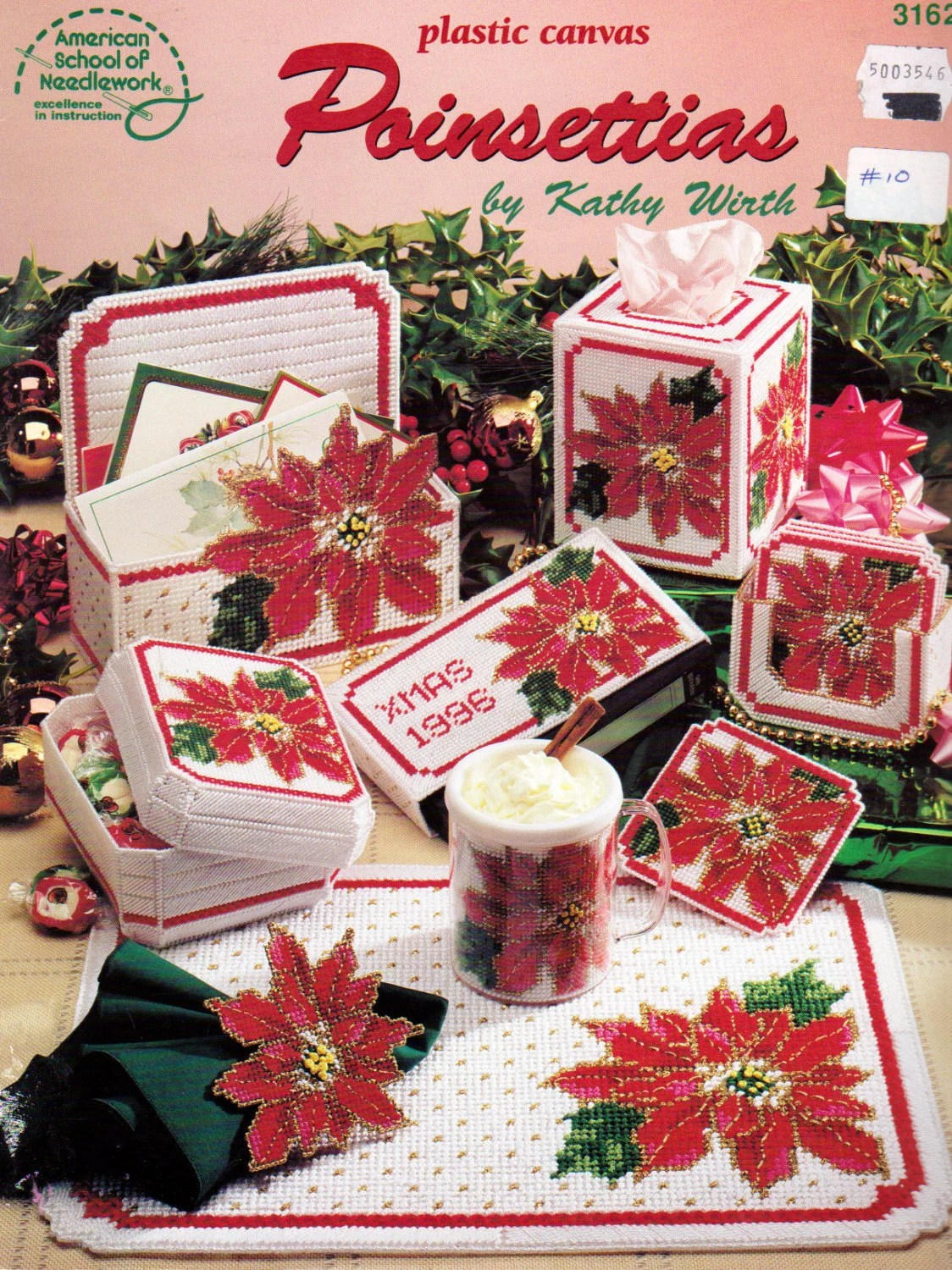 Pointsettias Plastic Canvas Patterns By Kathy Wirth Coaster