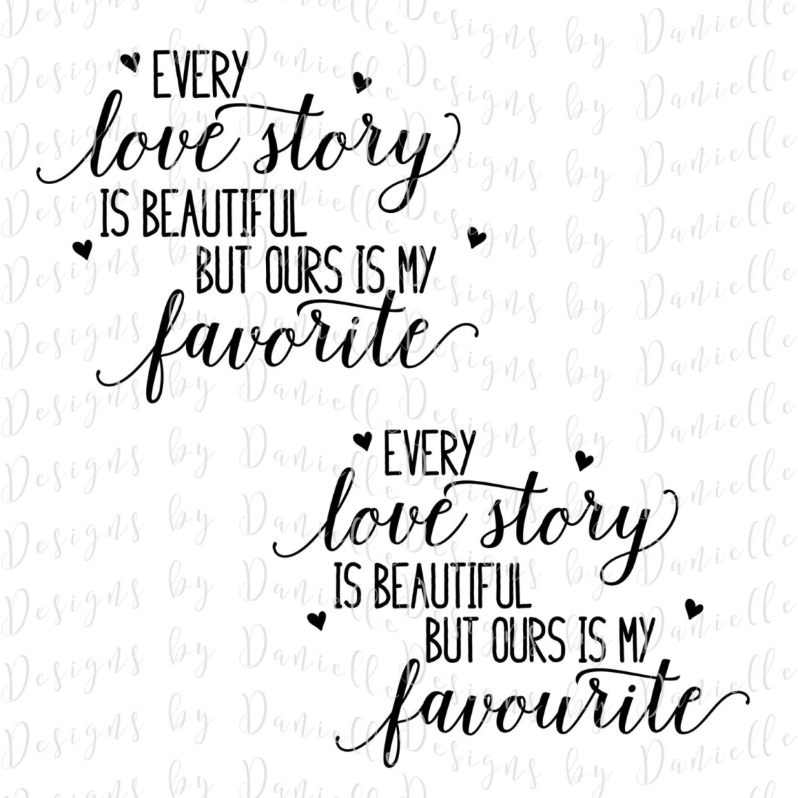 Download Every Love Story Is Beautiful SVG Cutting File Commercial