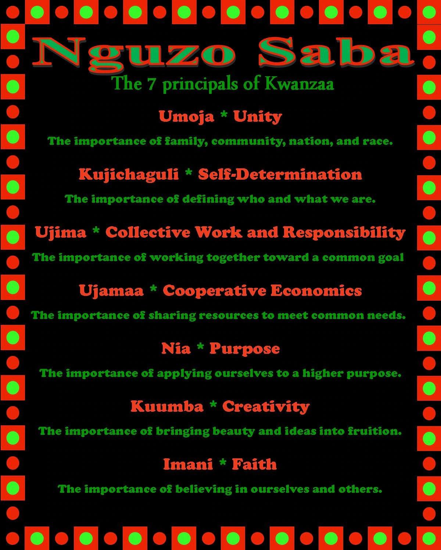 Nguzo Saba 7 Principles Of Kwanzaa Inspirational