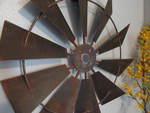 24 Inch Full Windmill Head Wall Decor Rustic Farmhouse
