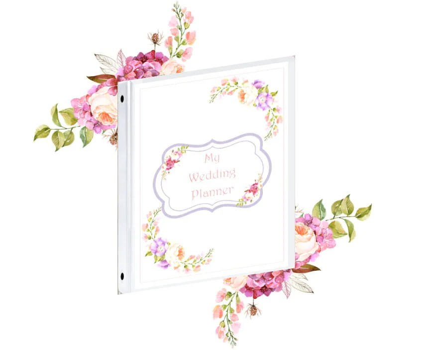 Binder Cover Printable Wedding Planner Binder Cover Front