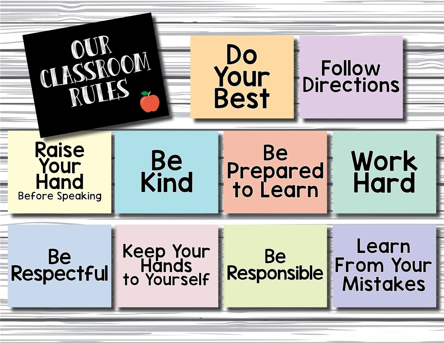 Printable Classroom Rules Signs Inspirational Art Be