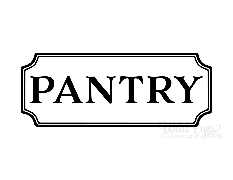 Pantry Vinyl Decal Kitchen Vinyl Decal Glass Door Decal