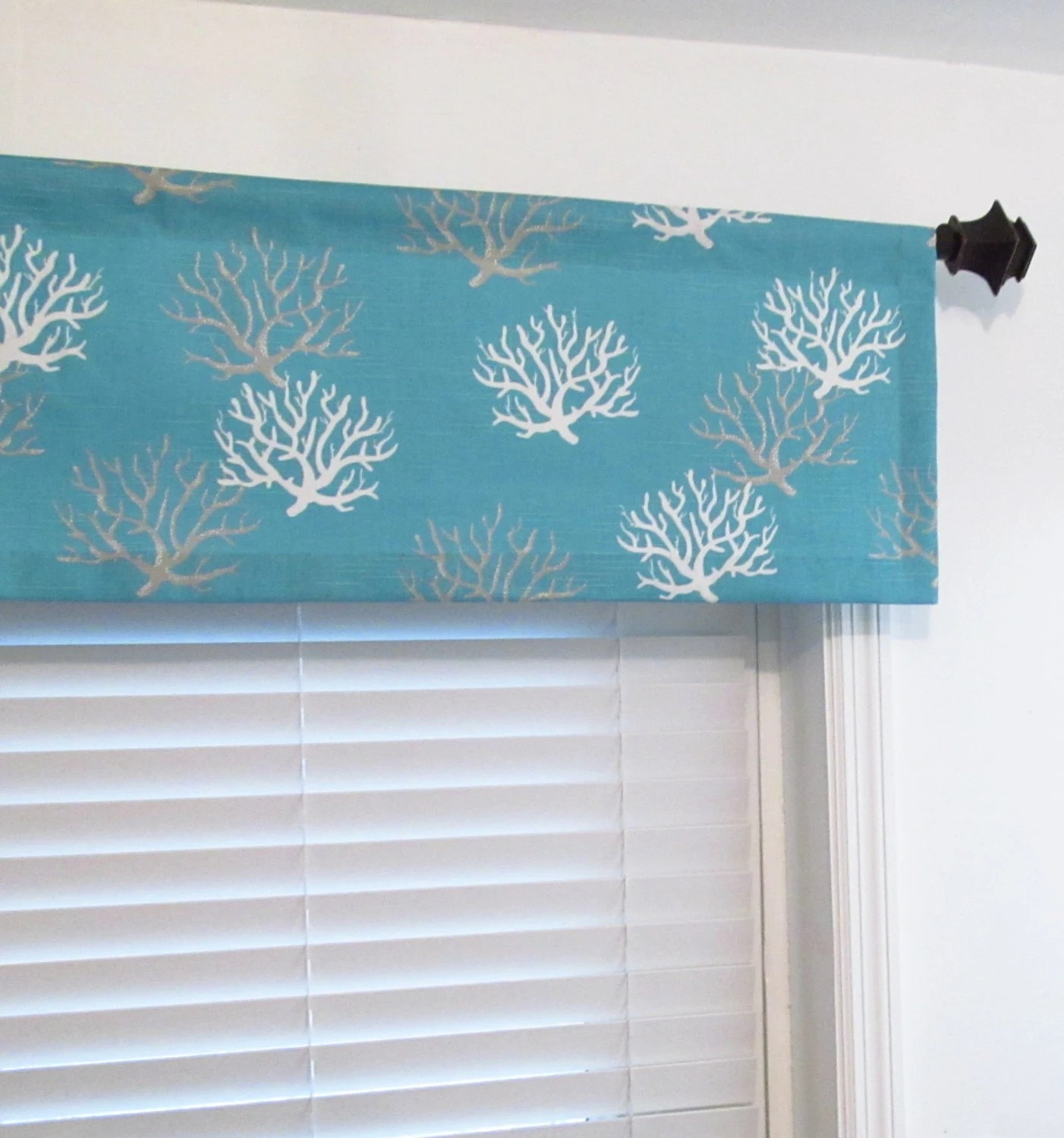 Nautical Window Valance Isadella Coastal Blue By Oldstation