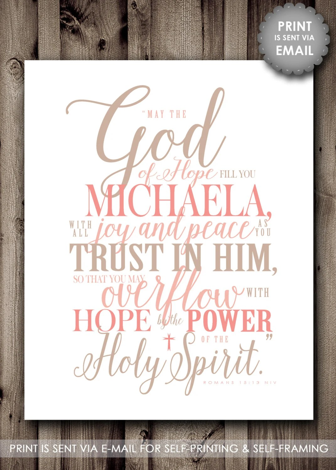 Prayer For Baby Girl Personalized Scripture Wall Art