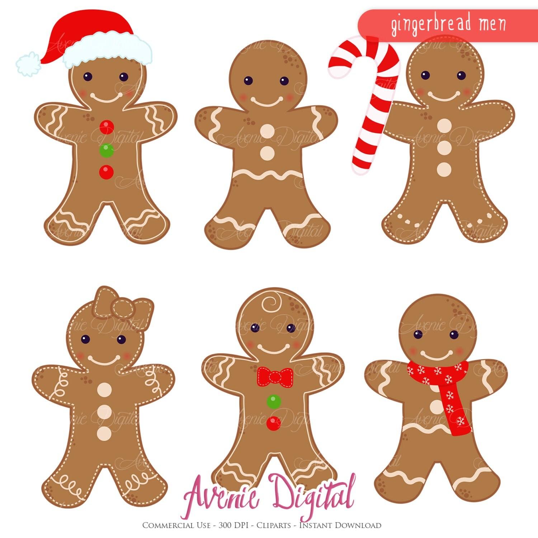 Gingerbread Man Clipart Scrapbook Printables Holiday Clip Art