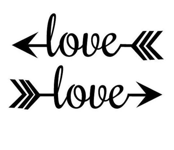 Download Love Arrow Decal