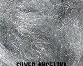 Silver Angelina Fiber 1/2 oz - add sparkle and bling to your spinning!