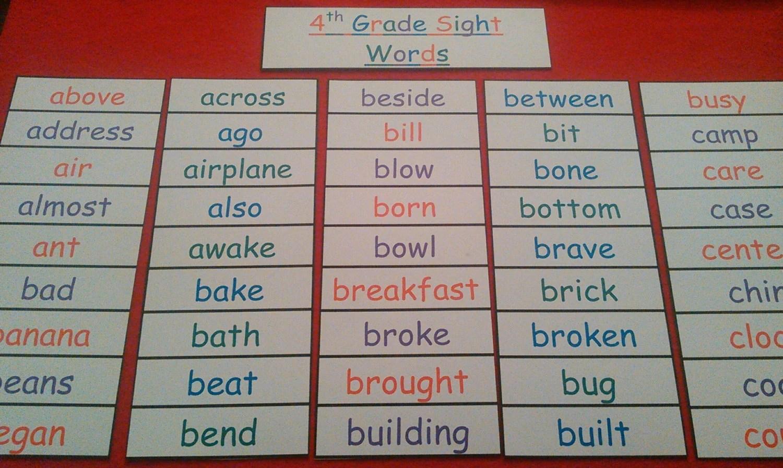 Kidzone Worksheet Sight Words Second Grade