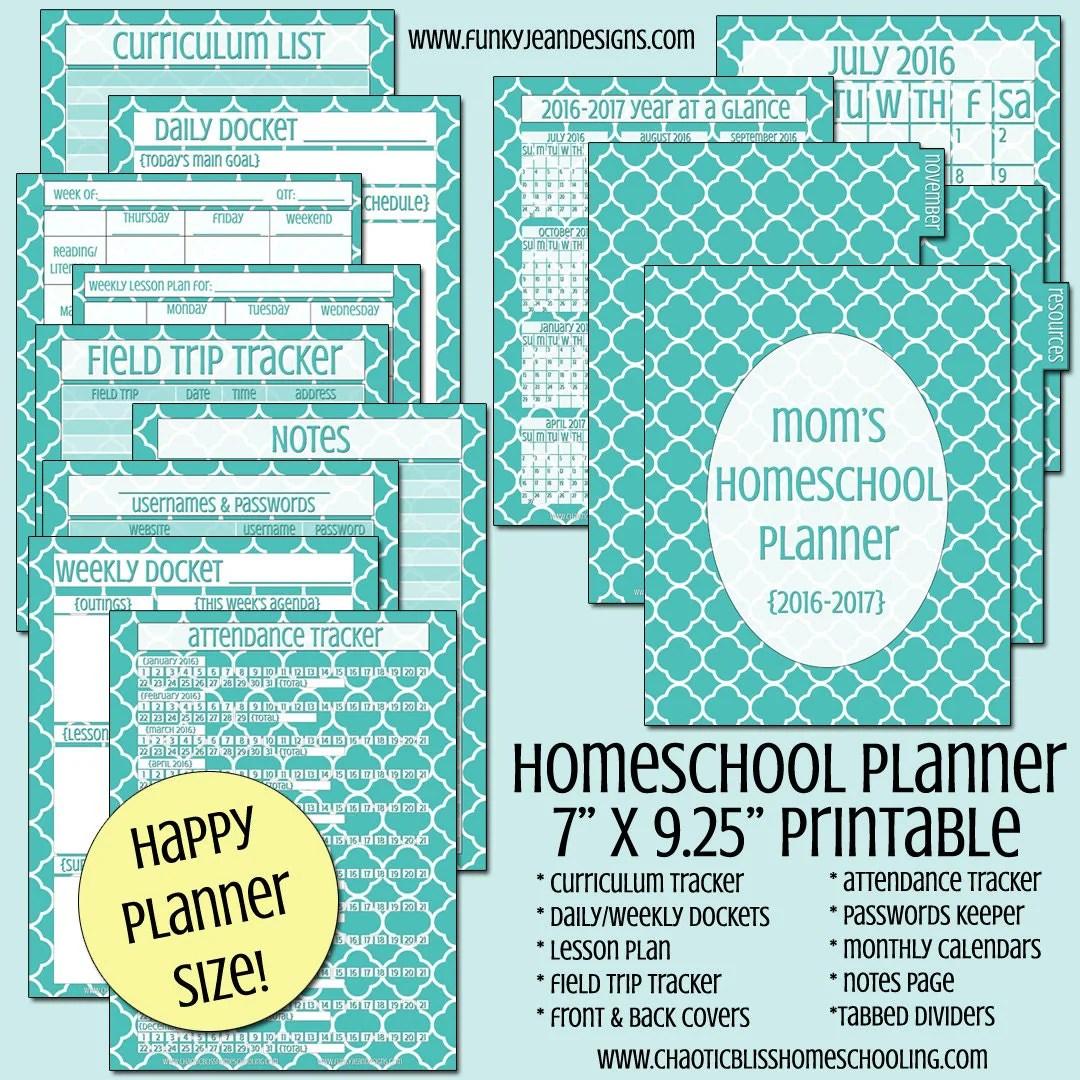 Homeschool Planner Printable Happy Planner Size