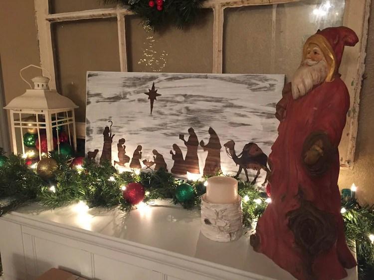 Christmas Nativity Scene Sign Christmas By TheGreenGiftCompany