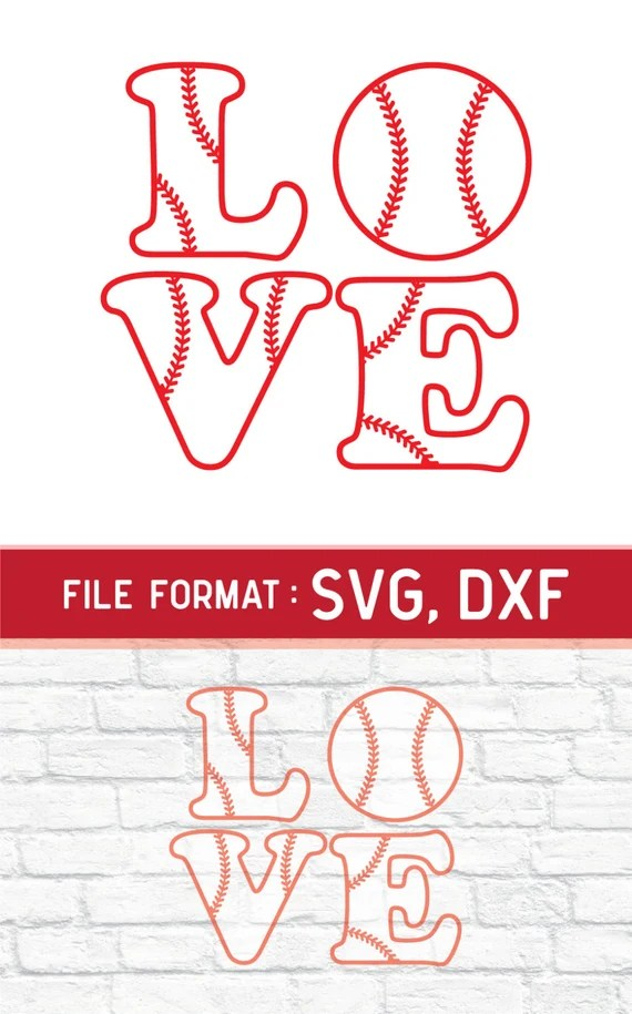Download SVG Love Baseball Monogram Cricut Files Vinyl Cutters SVG