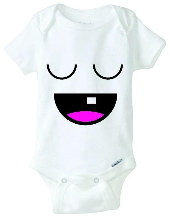 Download Sleepy Happy Baby Onesie Design, SVG, DXF, EPS Vector ...