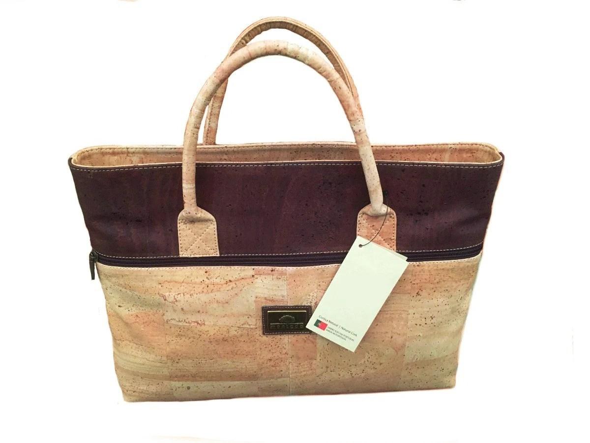 Natural Cork Handbag Laptop Bag