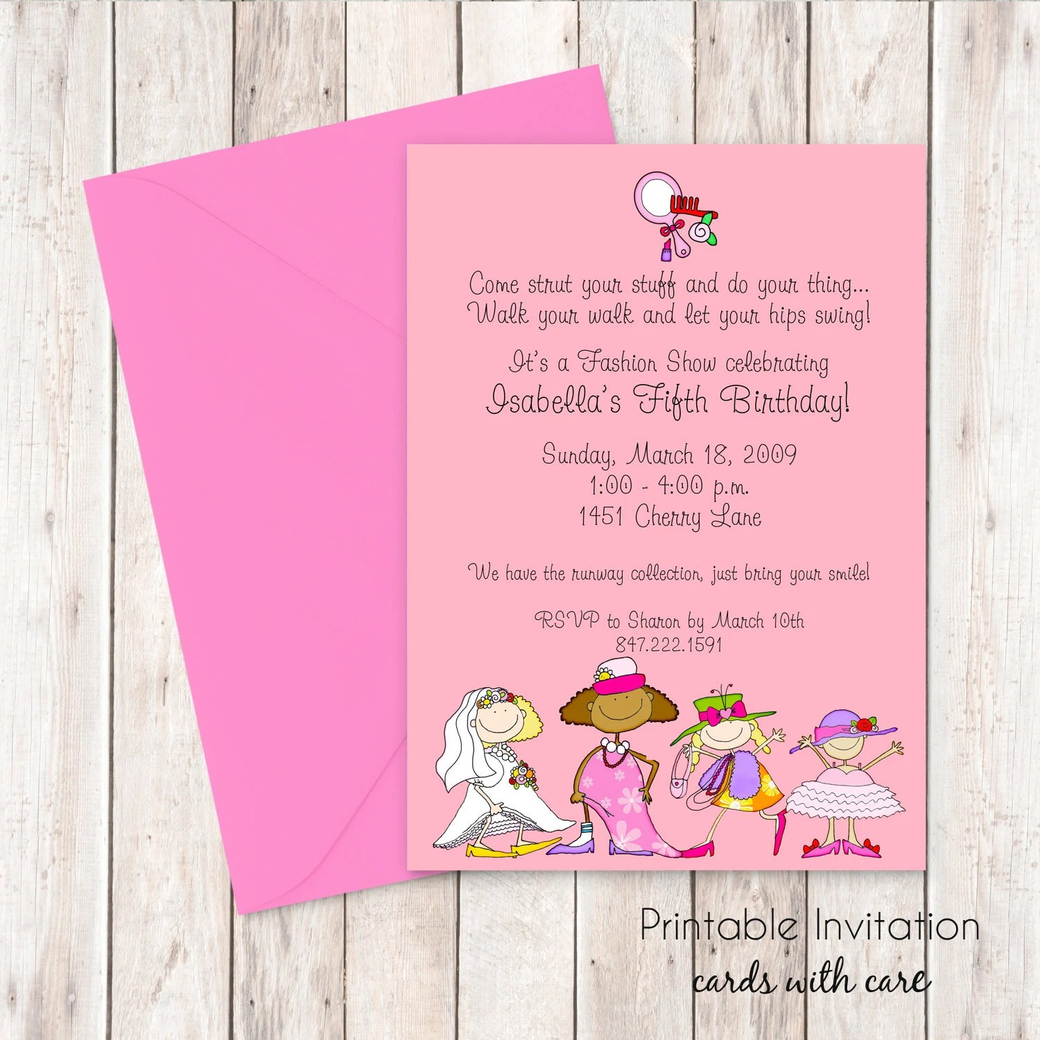 Dress Up Party Invitation Printable Invitation By