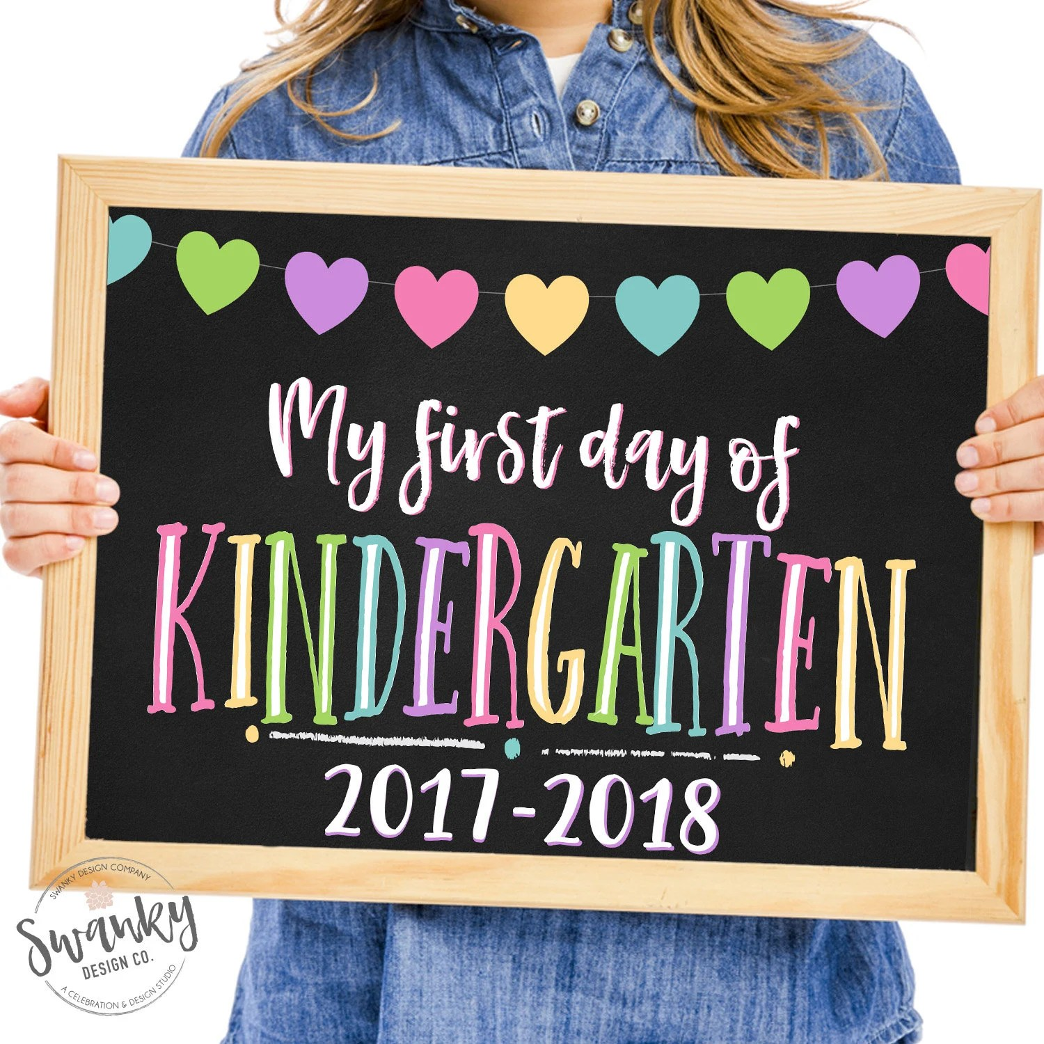 First Day Of Kindergarten Sign Printable First Day Back To