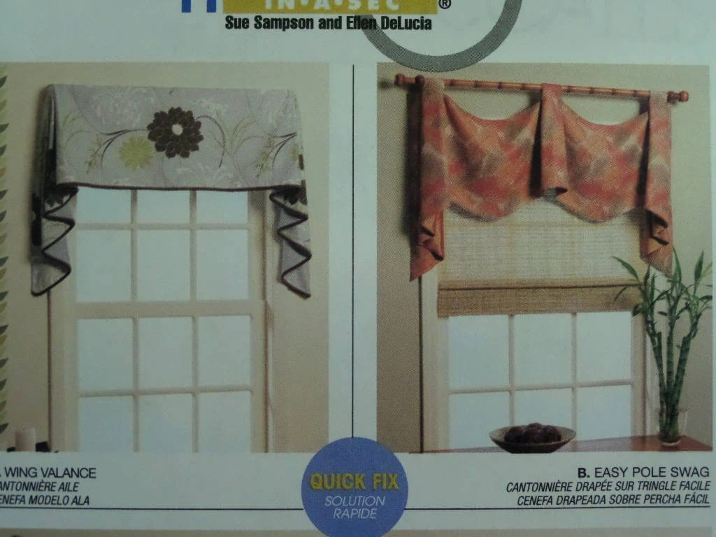 Valance Pattern Mccall S Window Treatments Wing