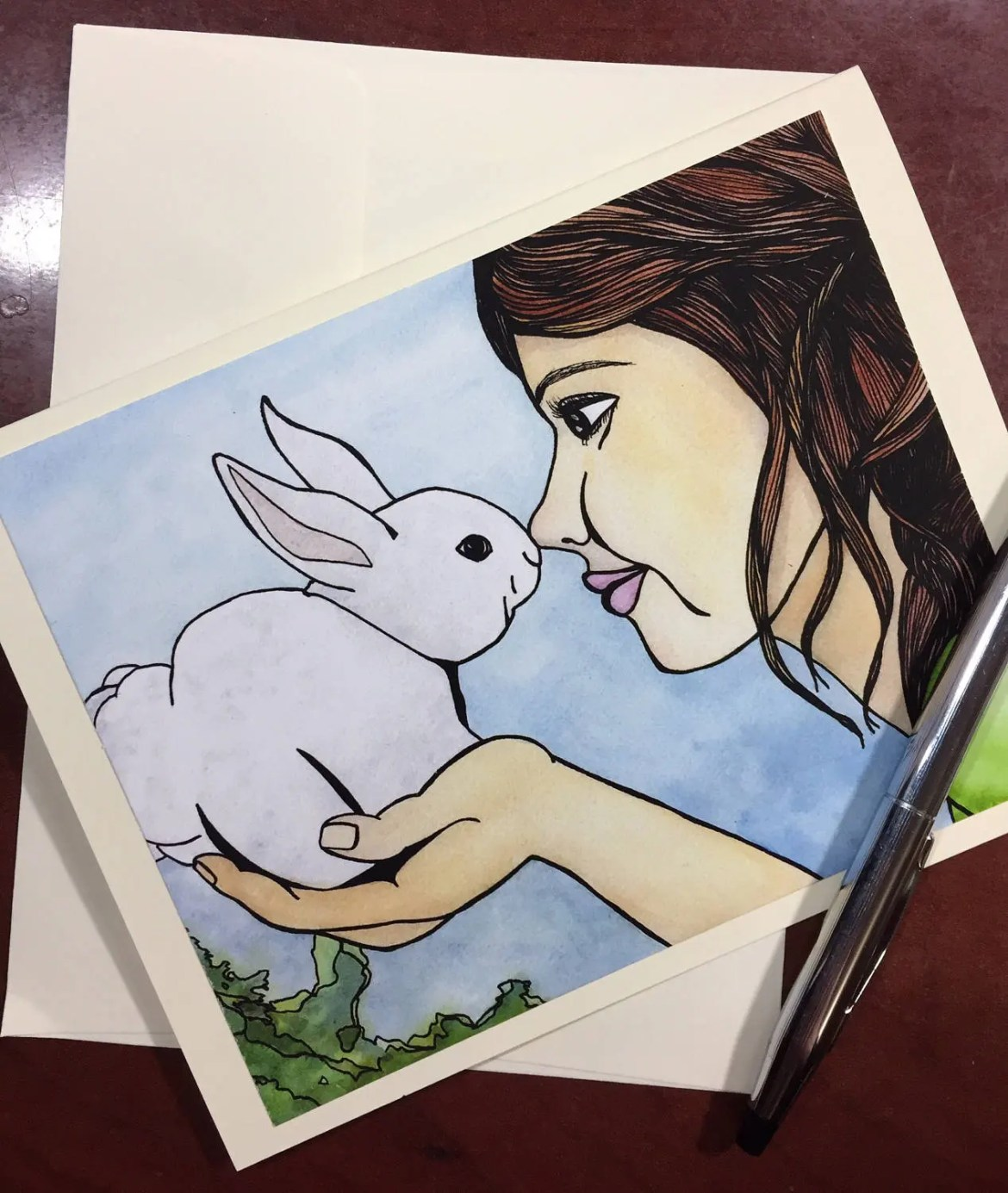 Bunny Kisses Easter Note ...