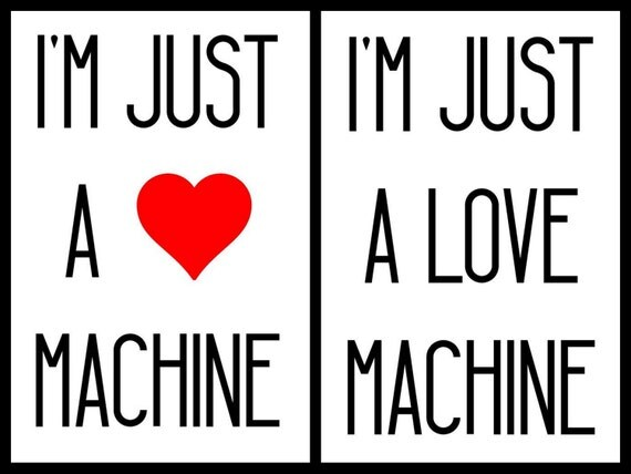 Download I'm Just A Love Machine SVG Studio3 PDF PNG Jpg File