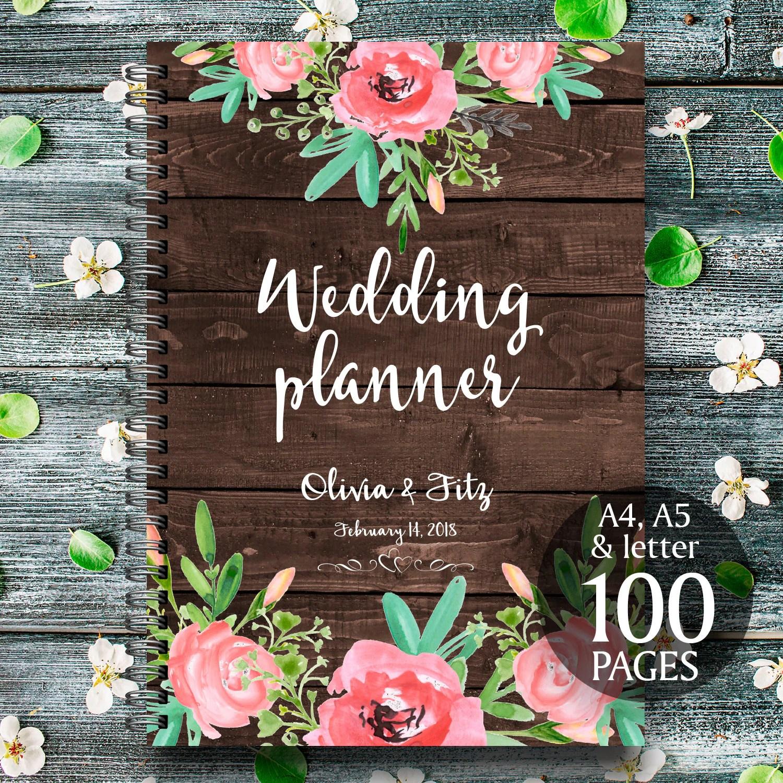 Rustic Wedding Binder Printable Wedding Planner Floral