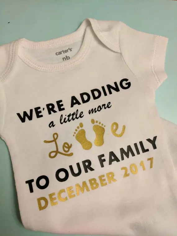 Download We're Adding A Little More Love To Our Family Custom