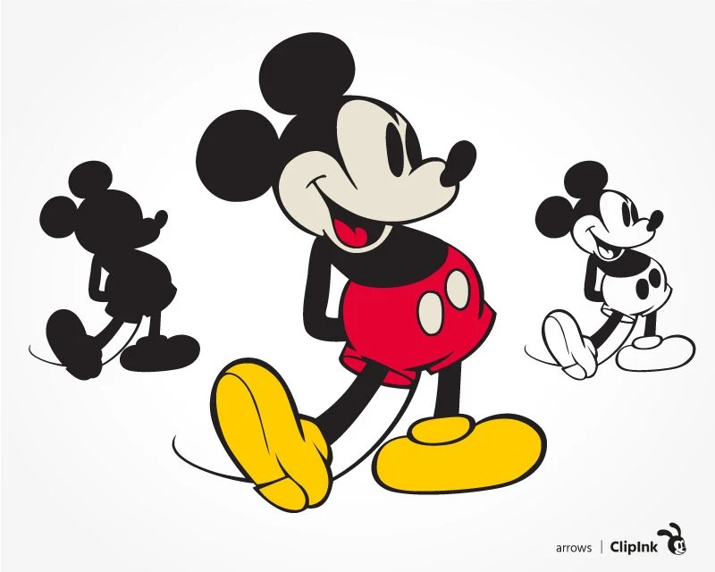 Download Mickey Mouse svg retro Disney Mickey clipart silhouette
