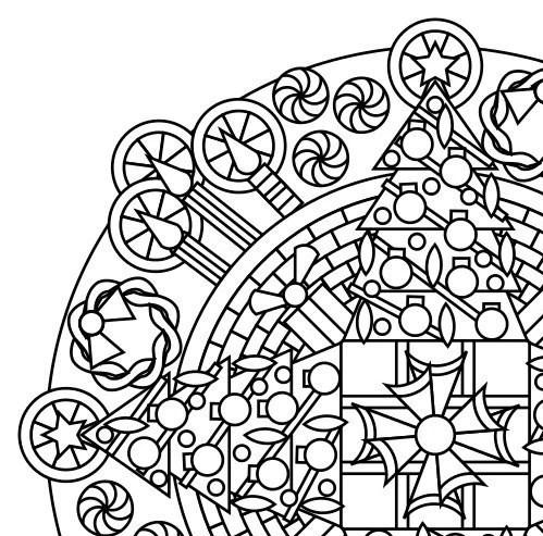 Weihnachten Mandala Malvorlagen Erwachsene Malvorlagen