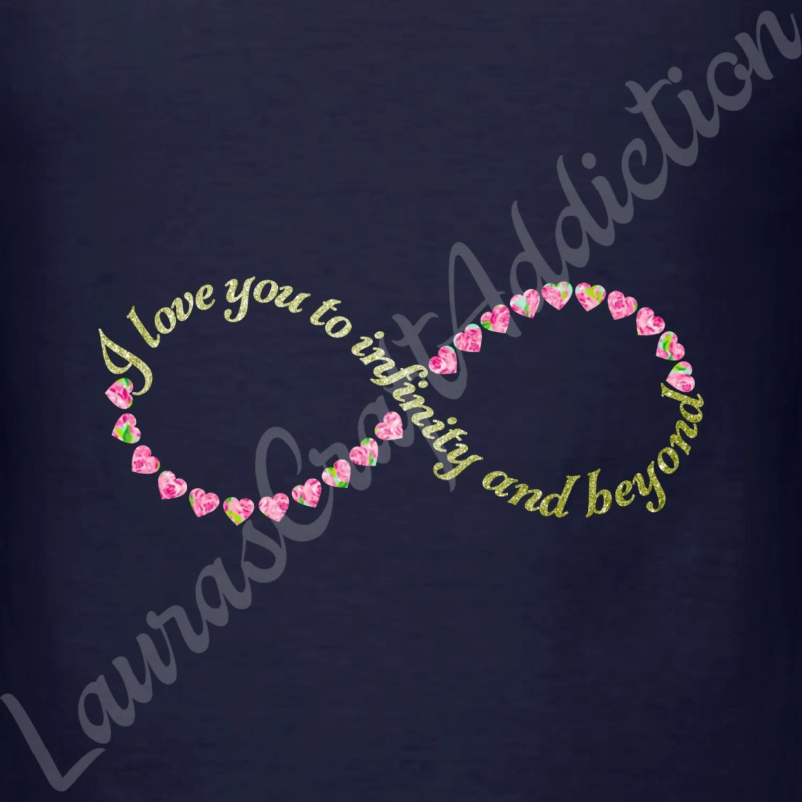 Download 4 I Love You to Infinity and Beyond svg dxf pdf cut files for