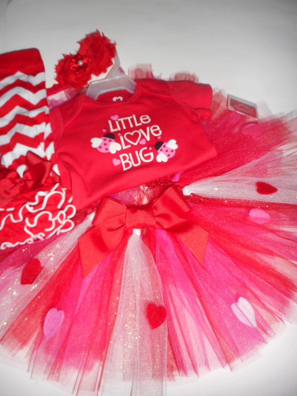 Items Similar To Valentines Day Tutu Outfit Set Onesie