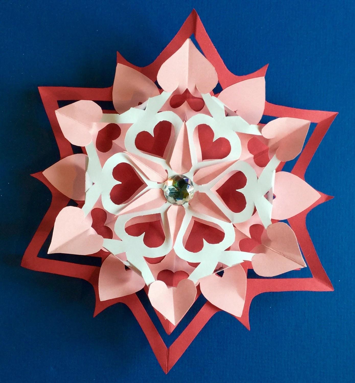 3d Valentine Paper Cutting Pattern