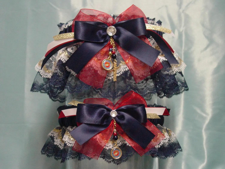 United States Marine Corps/USMC Wedding Garter Set