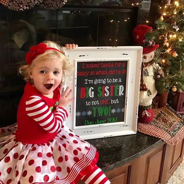 Twins Christmas Announcement Christmas Pregnancy Reveal