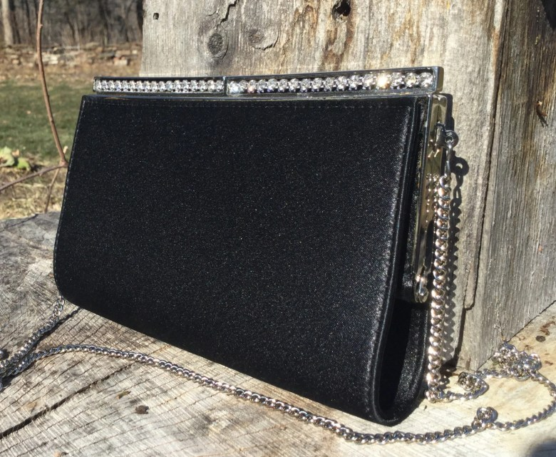 Vintage Black Silk Clutch...