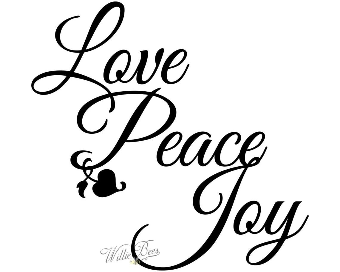 Download Peace Love Joy Silhouette Words Wall Art Letters Heart