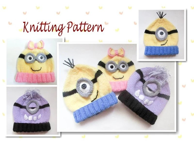 Minion Beanie Knitting Pattern Gallery - knitting patterns free download