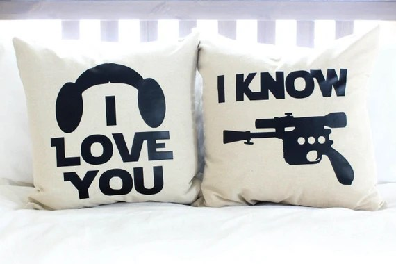 Download Star Wars I Love You/I Know Pillow Set Han Solo by AndersAttic