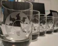 Custom Etched Whiskey Glasses (Set of 5) - Magic the Gathering Mana Symbols
