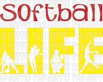 Download Softball vector | Etsy