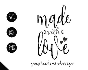 Download Made with love svg   Etsy