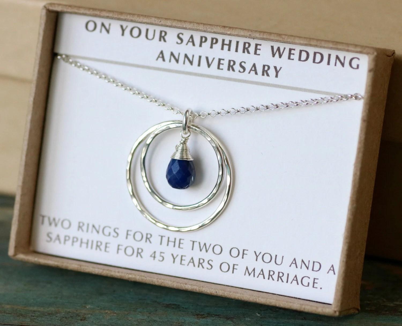 45th Anniversary Gift 45th Wedding Anniversary Gift Sapphire
