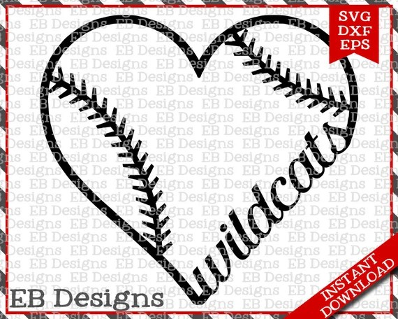 Download Wildcats Baseball Love SVG DXF EPS Cutting Machine Files ...