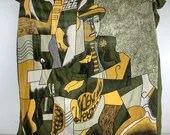 Green Picasso scarf, larg...