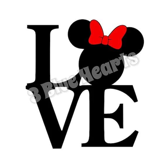 Download Minnie Love svg dxf pdf studio jpg