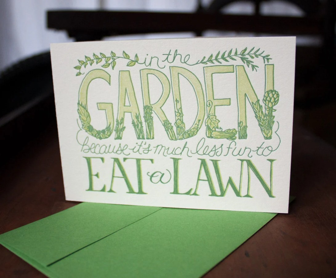 In the Garden - Card...