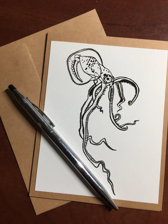 Squid - Original Ink Draw...