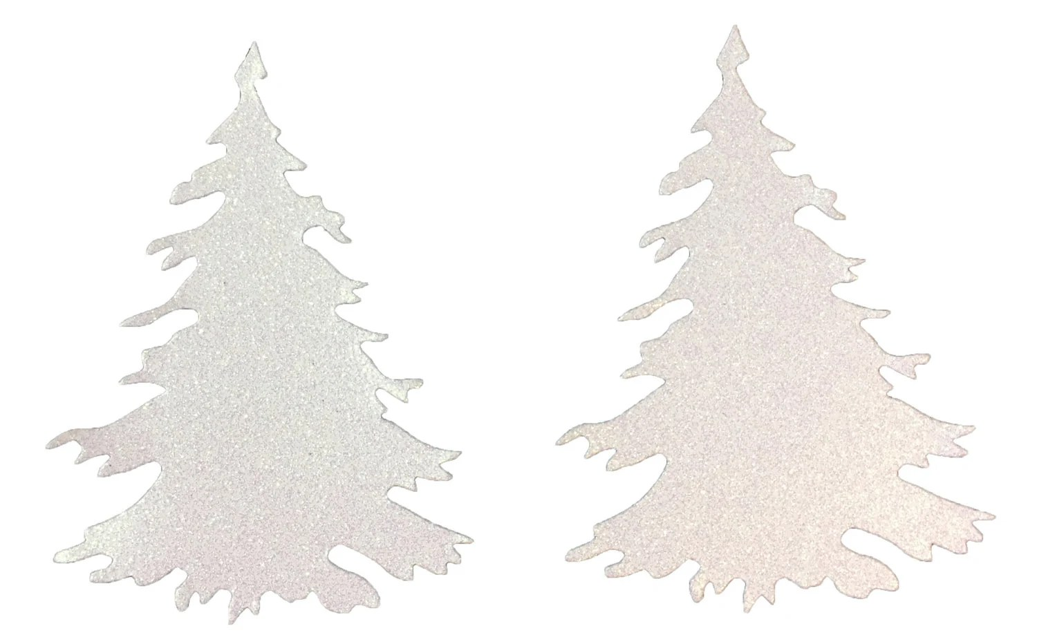 Christmas Tree Cut Snow White Glitter Cardstock